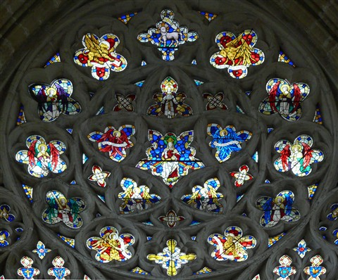 Exeter Cathedral - Main  Window Top Section