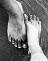 feet touching!