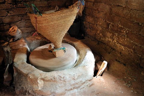 Morocco - Ourika valley - Rotating millstone