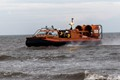 This is the Hunstanton Hovercraft.  It's the only piece of equipment that the RNLI at Hunstanton has, that can reach the sea by itself if the tide is out. There is no pier and a very sandy beach.  If a rescue needs to be immediate the hovercraft is used as  the lifeboat has to be taken to the sea  on a tractor and is slower, much!