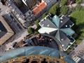 Looking down on the roof of Vor Frelsers Kirke Kobenhavn.