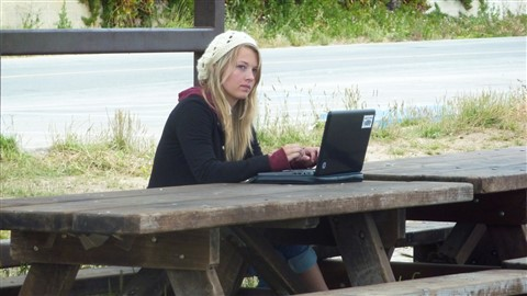 telecommuting at the beach