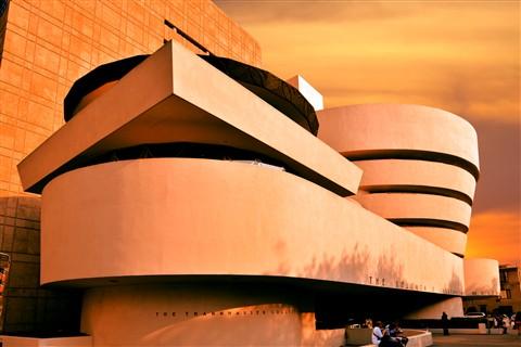 Sunset at Guggenheim