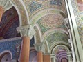 Cathedral Basilica of Saint Louis, in Saint Louis, Missouri, USA - ambulatory ceiling with mosaics
