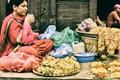 A florist in Kathmandu