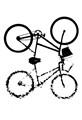 bicicleta alto contraste