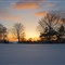 Snow sunset March 2013 3
