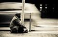 Romanian beggar.