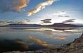 Lake Ice Solstice Sunset