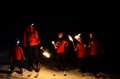 First time for the kids skiing at night and with torches