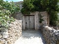 Small road with stone walls, Kythera island, Greece