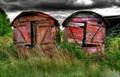 Old shacks near Holberrow Green, Worcestershire, UK