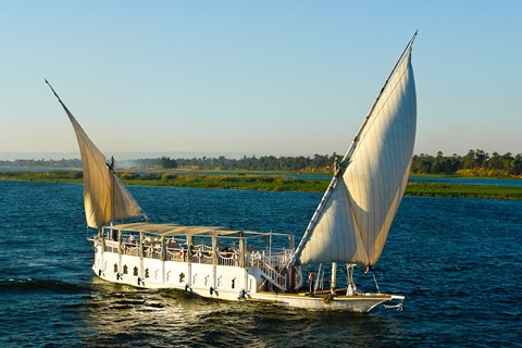 Sailing boat on Nile river