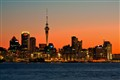 Sunset In The City - Auckland New Zealand