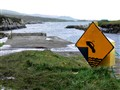 Cliff ahead