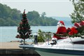 Santa on Lake Ontario, Canada