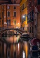 Venice (Italy) and her calm canals in a quiet night