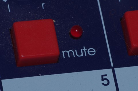 Midas mute button  close up