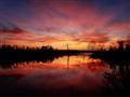 sunset at Jack Nolan lake