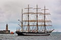 Kruzenshtern and her crew leaving Newcastle-upon-Tyne