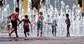 Fountain Play: Curtis Hixon Park, Tampa FL