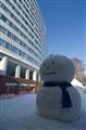 Snowman in tha Shade