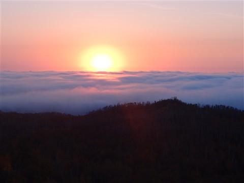 Fog over Lake Superior