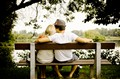 Love on a park bench