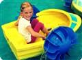 beautiful little girl enjoy in the water