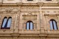 Taken in Seville, Spain. Left side of the building is rich in detail; right side is poor in detail