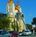 Refurbishing the church dome