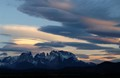 SUNSET OVER TORRES DEL PAINE, CHILE
