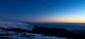 night falls at 1600 m