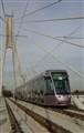 Luas Tram on Bridge