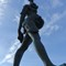 Verity: Verity is a stainless steel and bronze statue created by Damien Hirst. The 20.25-metre tall sculpture stands on the pier at the entrance to the harbour in Ilfracombe, Devon, looking out over the Bristol Channel towards South Wales
