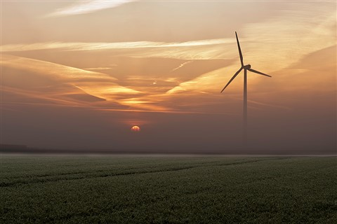 Windmill-sunrise